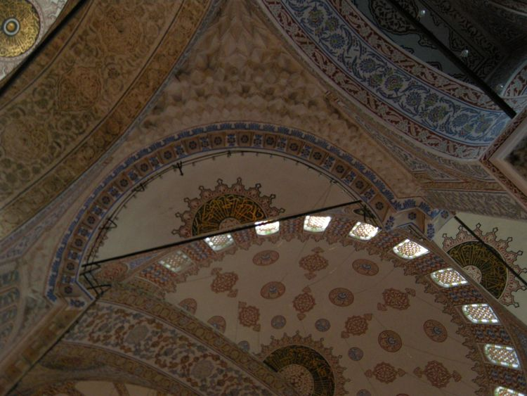 What Is A Mosque Detail: Ceiling Detail Of The Blue Mosque